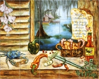 Louisiana Kitchen tile wall mural
